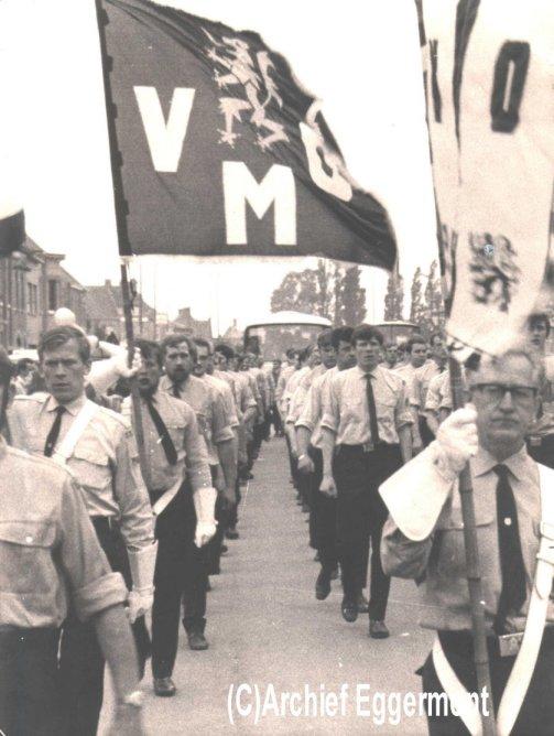 De VMO'ers marcheerden veel in de jaren '70.O.m. in de Voerstreek