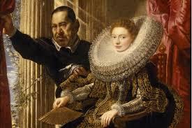 "Rubens: ""Portrait de Maria Grimaldi et de son nain"". 1607"