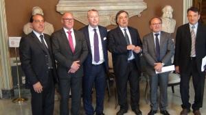 Rencontre au sommet avec le maire de Palerme Leoluca Orlando
