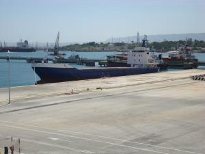 Un des navires pourris utilisés par les trafiquants pour amener leur cargaison d'êtres humains.
