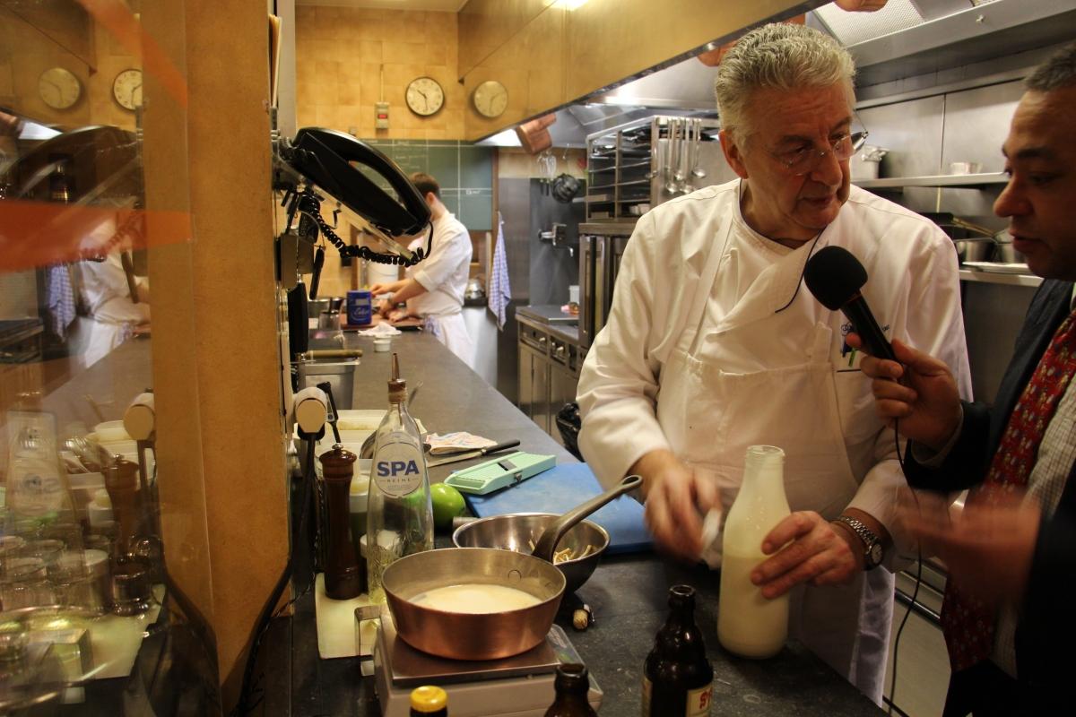EXCLUSIF:Une recette du chef étoilé J-P BRUNEAU. #gastronomie #bruxelles #ganshoren