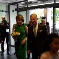 Bezoek van de Koning en de Koningin bij de VRT #vrt #brussel #moarchie