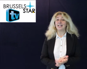 Muriel Hautier, présentatrice de la brusselsstarTV
