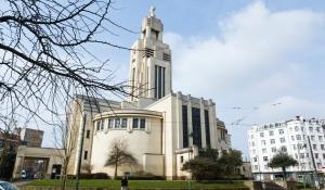 Eglise Saint-Augustin, a big churche on Altitude 100 in Vorst, an example of religious Art Deco architecture.
