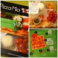 """Le pack """"Pizza Mia"""", avec aliments emballés sous vide et mode d'emploi"""