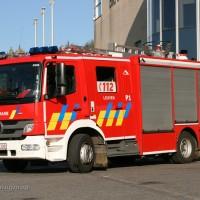 Een bus van De Lijn vat vuur #leuven