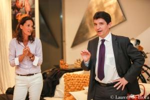 Caroline Laporte avec le Sénateur des Français de l'étranger Olivier Cadic (d.)