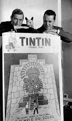 "Avec Hergé et le N°1 du  ""Journal Tintin"""