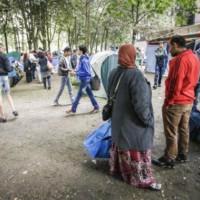 Maximiliaanpark: hulp voor de vluchtelingen zonder schroom gestolen. #brussel #immigratie #vluchtelingen