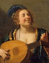 """""""Femme au Luth"""" (C) Geerit Von Honthorst Palais des Beaux-Arts"""