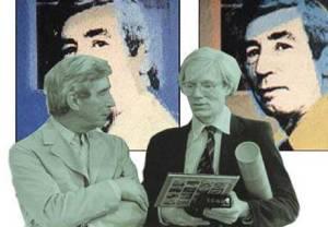 """Avec Andy Warhol (c) """"Hergé-Moulinsart"""" 2016"""