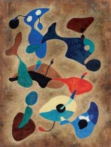 """L'une de ses 9 toiles exposées (c) """"Hergé"""""""