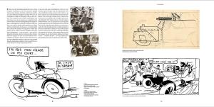 """Les cases en noir et blanc d' """"Hergé"""" et des photos les ayant inspirées"""