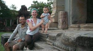 A trois au Cambodge (c) C. Clocheret & F. Picard