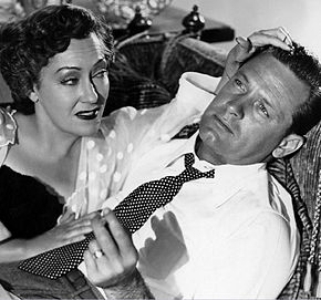 "Gloria Swanson & William Holden dans ""Sunset Boulevard"""