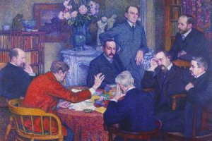 """""""La lecture par Emile Verhaeren"""", Théo Van Rysselberghe, 1903"""