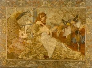 """""""L'Automne"""", Hélène Du Ménil et Isidore De Rudder, 200  x 260 cm, 1905"""