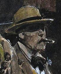 "Détail de ""Picadily Circus"": Georges V (c) Fortunino Matania - ""Berko Fine Paintings"""