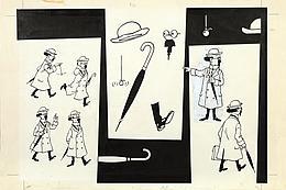 """roquis du """"Professeur Tournesol"""" (1968) (c) """"Hergé-Moulinsart 2017"""""""