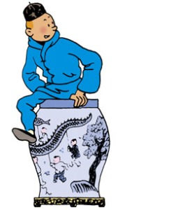 """""""Le Lotus Bleu"""" (c) """"Hergé-Moulinsart"""""""