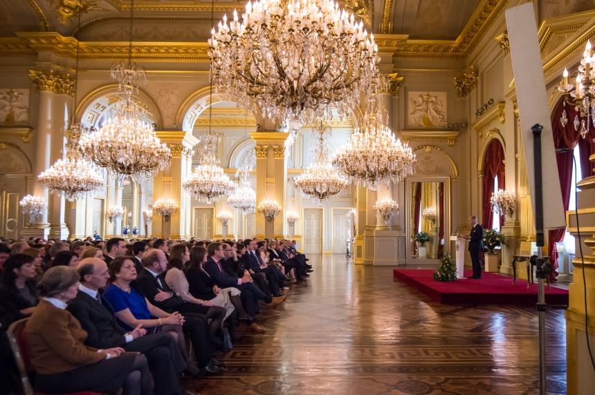 Réception des Voeux pour le Nouvel An au Palais Royal