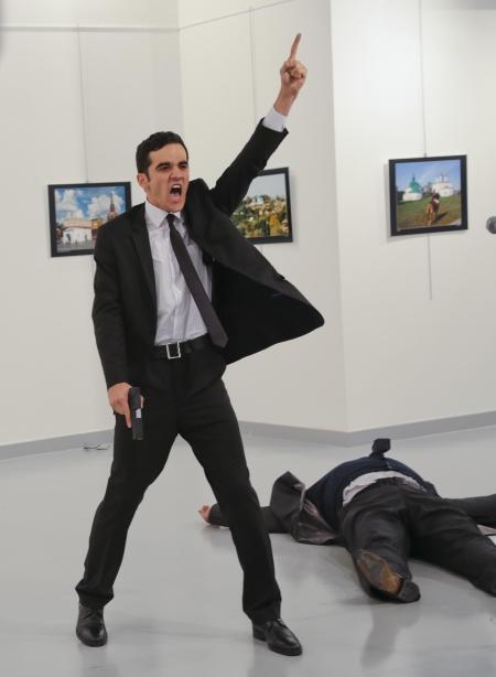 L'assassinat de l'ambassadeur russe pour I PrixPhoto