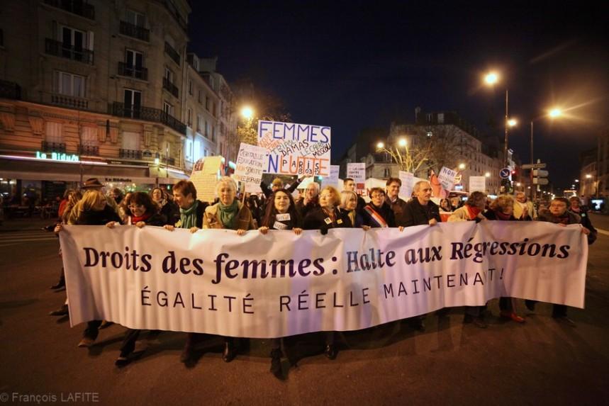Manifestation de la Journee mondiale pour les droits des femmes