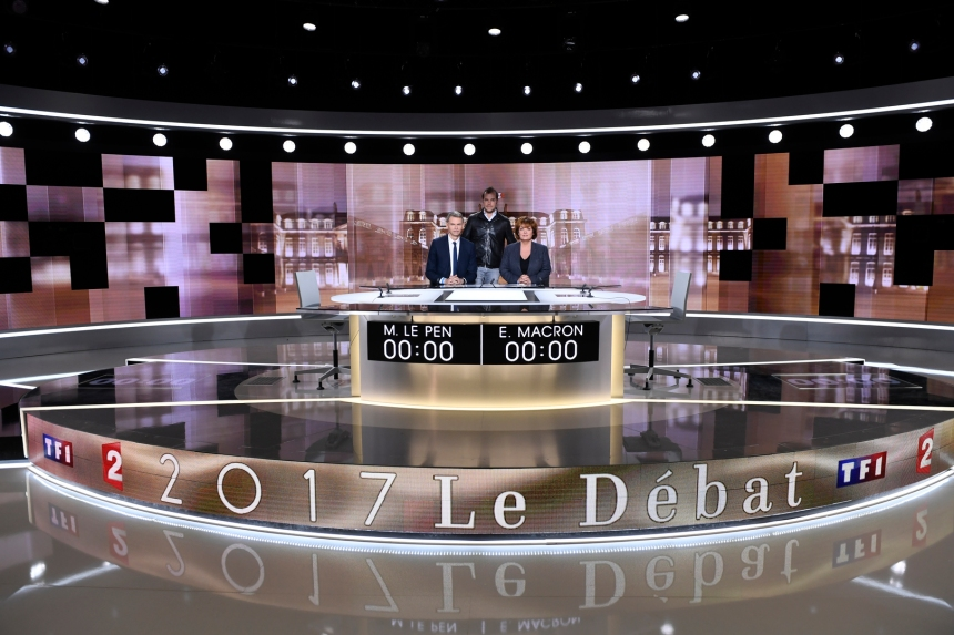 FRANCE2017-VOTE-TV-DEBATE-MEDIA