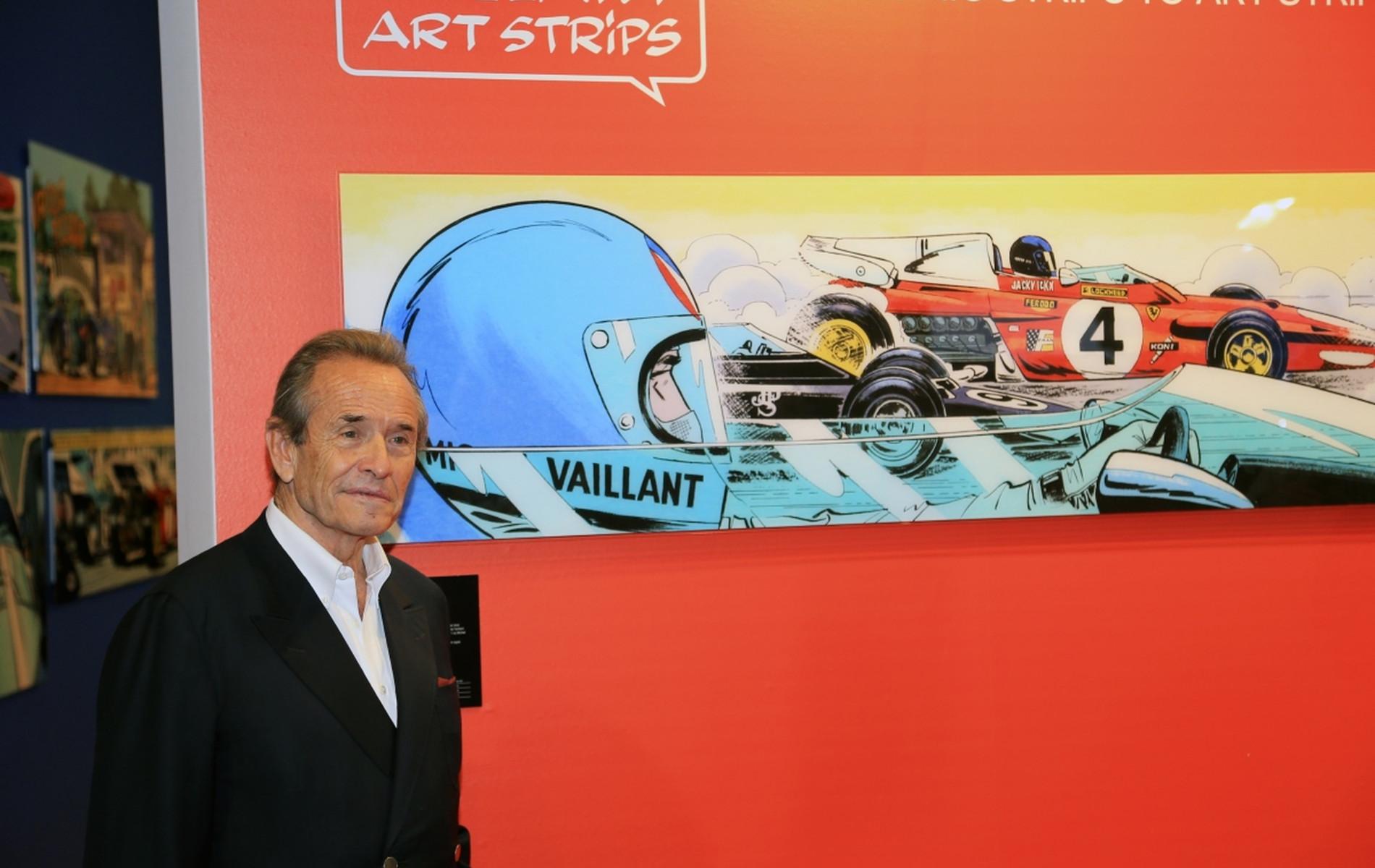 """Les 75 Ans de Jacky Ickx, fêtés par """"Michel Vaillant Art Strips"""", au 98è """"Salon de l'Auto"""""""