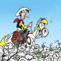 """""""Un Cow-Boy dans le Coton"""" (""""Achdé"""" et """"Jul""""/Editions """"Lucky Comics-Dargaud"""")"""